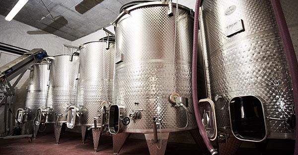 Cuve de vinification vignoble des templiers